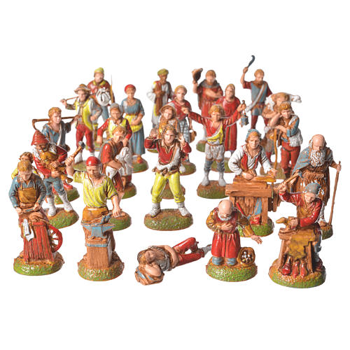 Shepherds, 24 nativity figurines, 6cm Moranduzzo 1