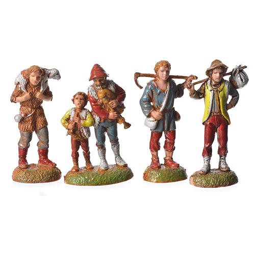 Shepherds, 24 nativity figurines, 6cm Moranduzzo 6