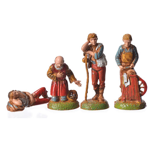 Shepherds, 24 nativity figurines, 6cm Moranduzzo 7