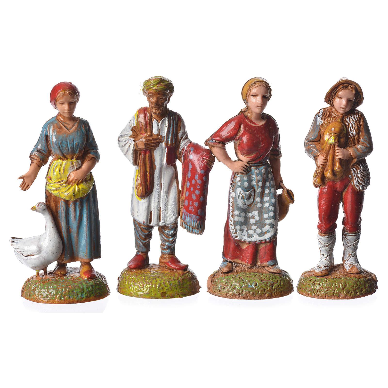 Pastores 24 peças para presépio Moranduzzo com figuras de altura  média 6 cm 4