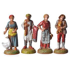Pastores 24 peças para presépio Moranduzzo com figuras de altura  média 6 cm s4