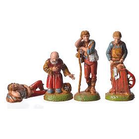 Pastores 24 peças para presépio Moranduzzo com figuras de altura  média 6 cm s7