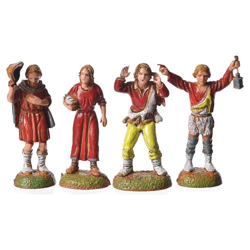 Pastores 24 peças para presépio Moranduzzo com figuras de altura  média 6 cm 3