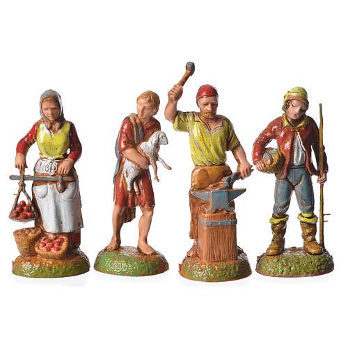 Pastores 24 peças para presépio Moranduzzo com figuras de altura  média 6 cm 5
