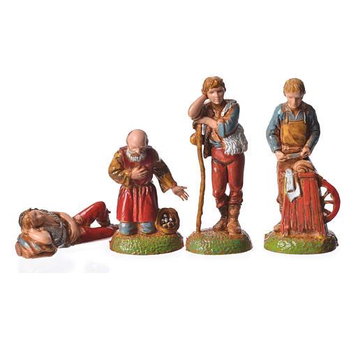 Pastores 24 peças para presépio Moranduzzo com figuras de altura  média 6 cm 7