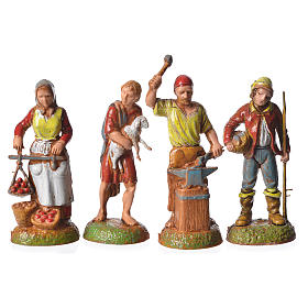 Shepherds, 24 nativity figurines, 6cm Moranduzzo s5