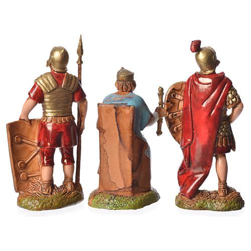 Rey Herodes y soldados 3 figuras 6 cm para belén Moranduzzo 2