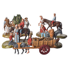 Nativity scene with 5 pieces 6cm by Moranduzzo s1