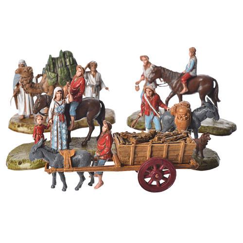 Nativity scene with 5 pieces 6cm by Moranduzzo 1
