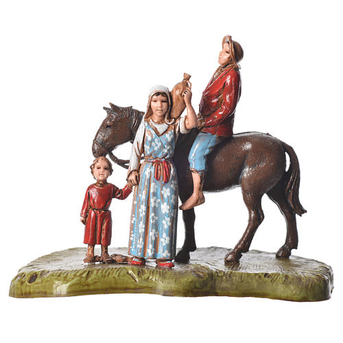 Nativity scene with 5 pieces 6cm by Moranduzzo 5