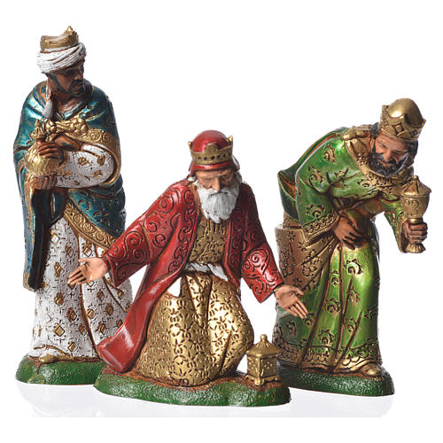 Wise men, 3 nativity figurines, 12cm Moranduzzo 1