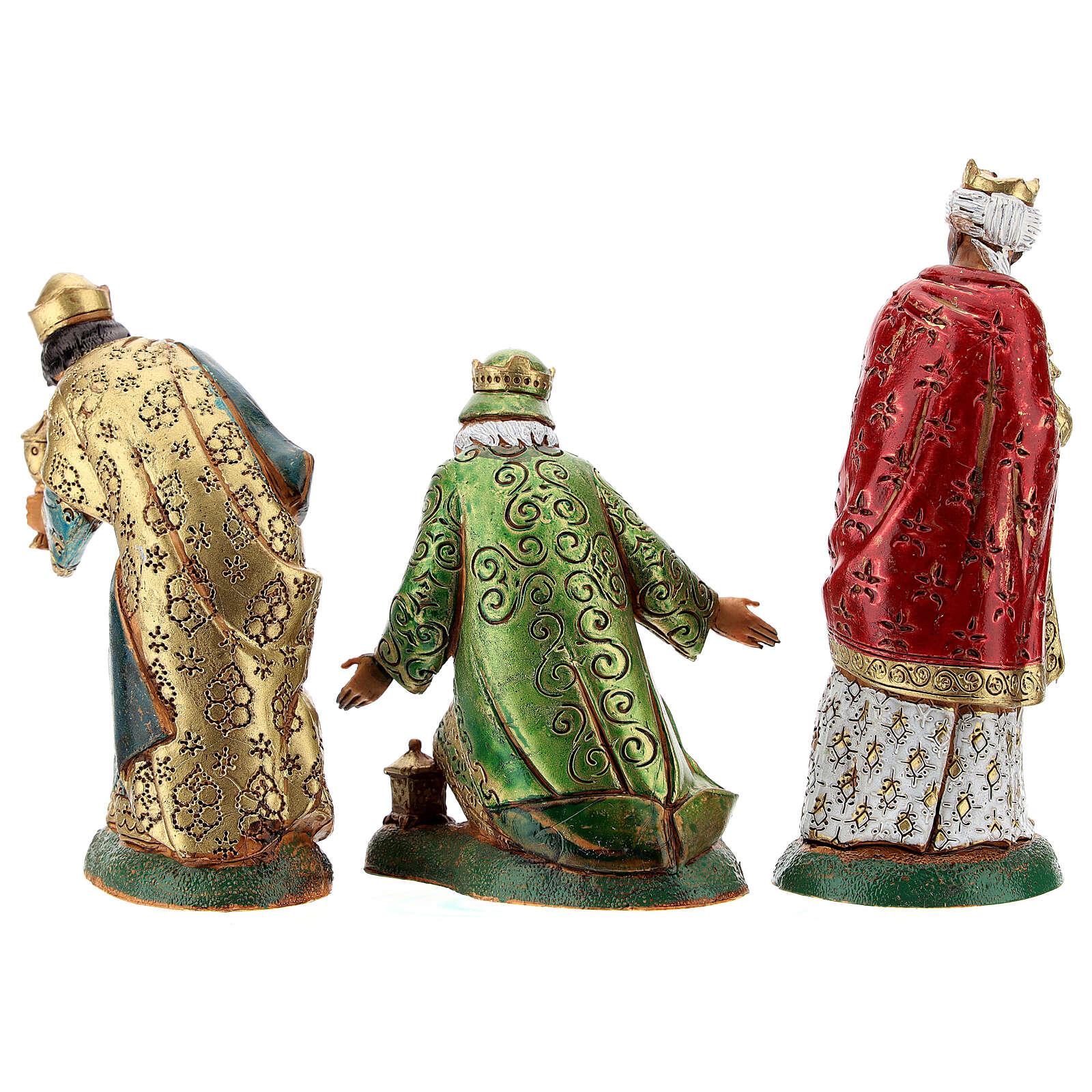Wise men, 3 nativity figurines, 12cm Moranduzzo 4