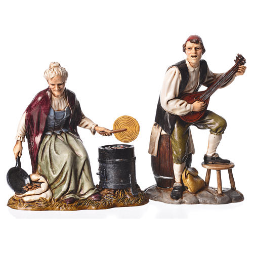 Arts and trades, 4 nativity figurines, 12cm Moranduzzo 2