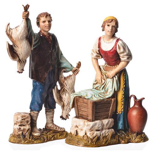 Arts and trades, 4 nativity figurines, 12cm Moranduzzo 3