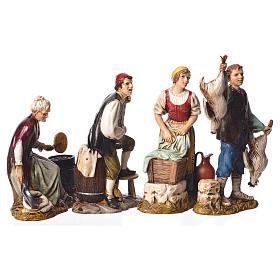 Arts and trades, 4 nativity figurines, 12cm Moranduzzo s1