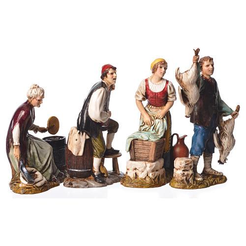 Arts and trades, 4 nativity figurines, 12cm Moranduzzo 1