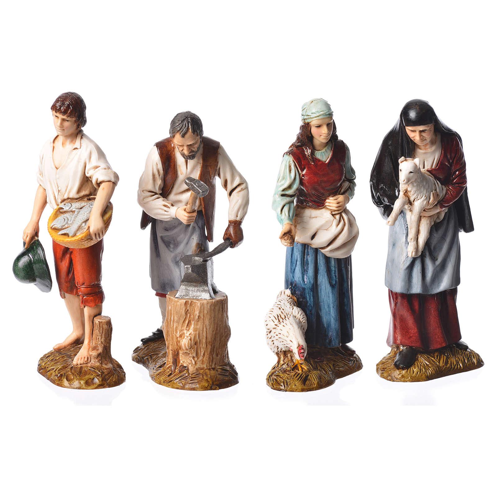 Pastori 12 cm presepe Moranduzzo 4 pz 4