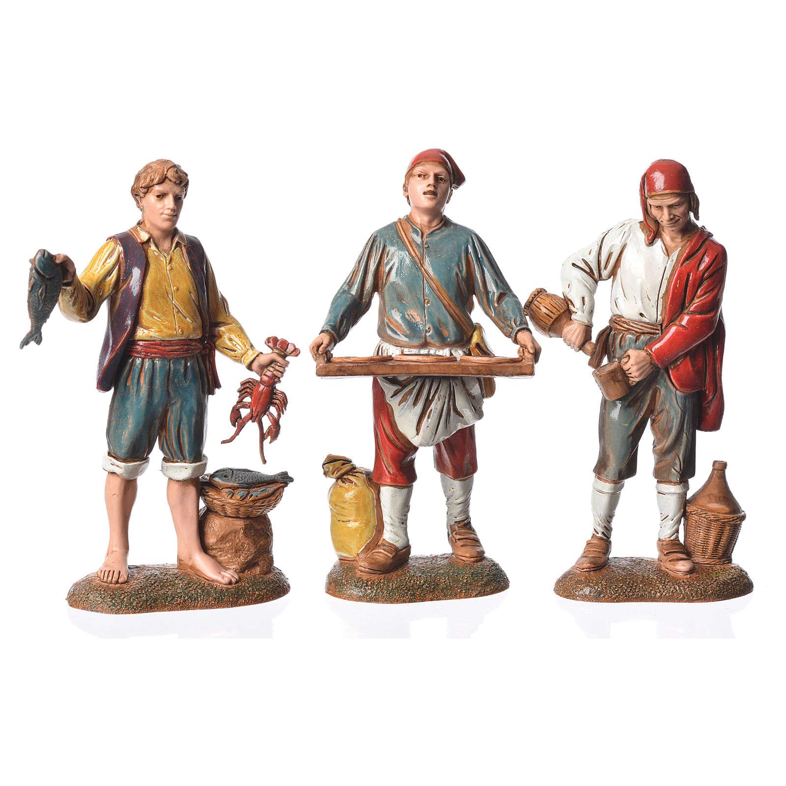 Neapolitan style characters, 3 nativity figurines, 6cm Moranduzzo 4
