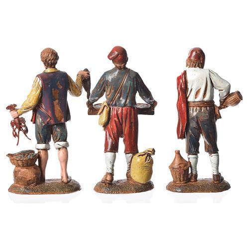 Neapolitan style characters, 3 nativity figurines, 6cm Moranduzzo 2