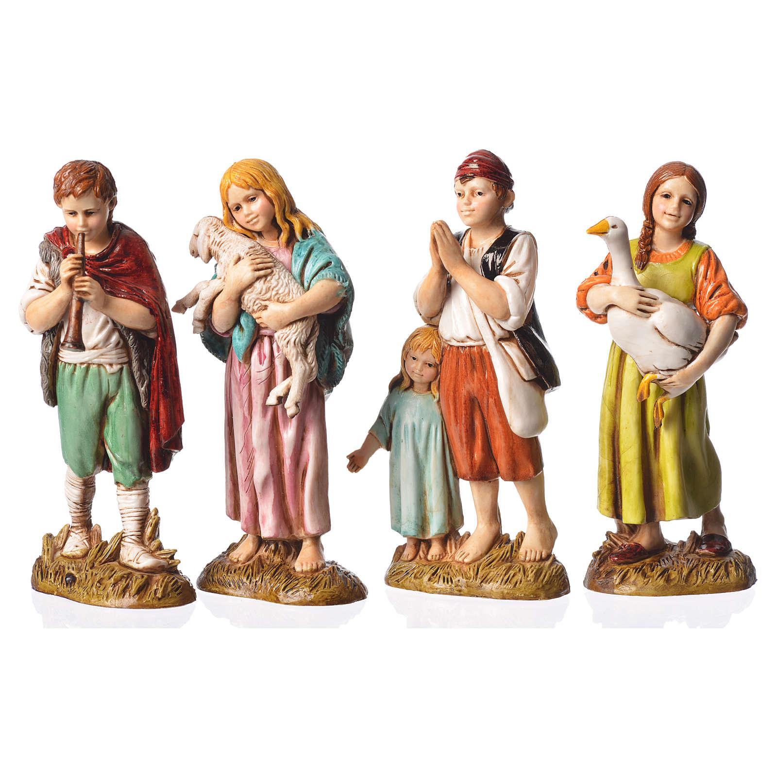 Fanciulli 4 sogg. Presepe 12 cm Moranduzzo 4