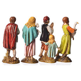 Children with animals, 4 nativity figurines, 12cm Moranduzzo s2