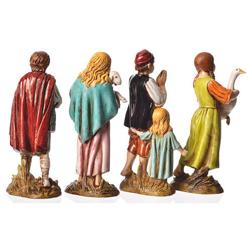Children with animals, 4 nativity figurines, 12cm Moranduzzo 2