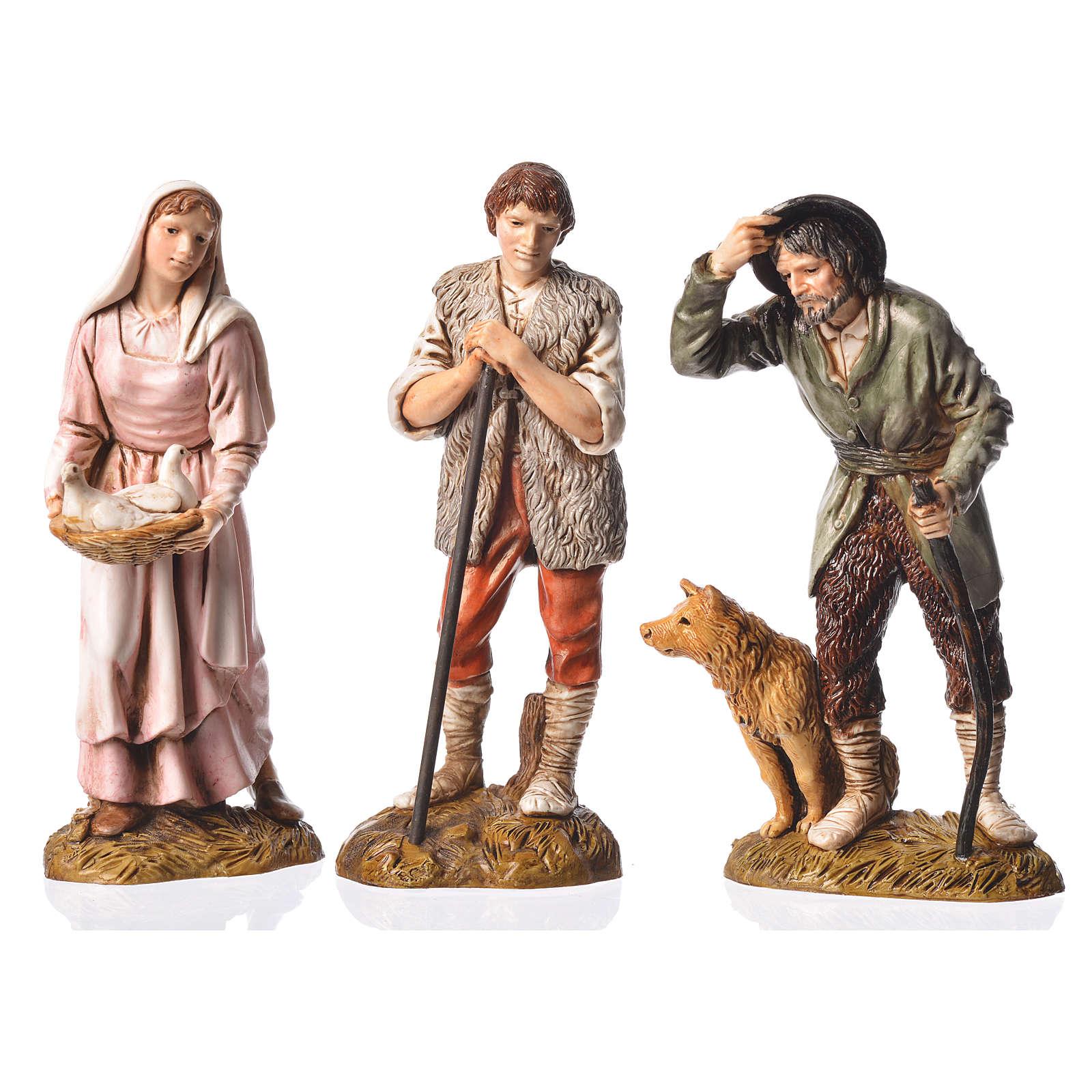 Pastores 6 figuras Belén Moranduzzo 12 cm 4
