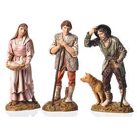 Pastores 6 figuras Belén Moranduzzo 12 cm s3