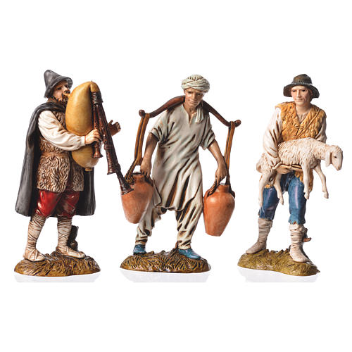 Pastores 6 figuras Belén Moranduzzo 12 cm 2