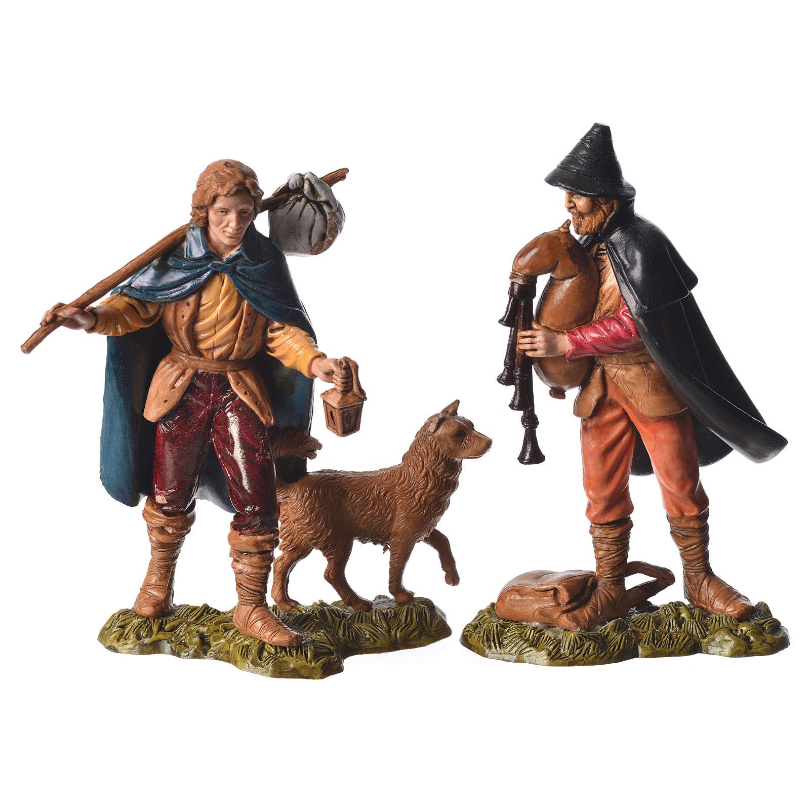 Shepherds and sheep 11cm 11 figurines, Moranduzzo nativity scene 4
