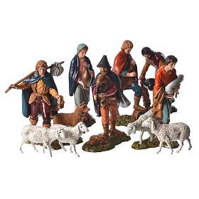 Shepherds and sheep 11cm 11 figurines, Moranduzzo nativity scene s1