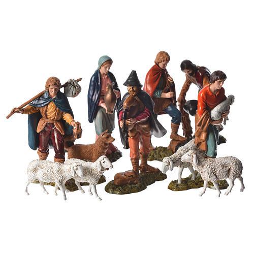 Shepherds and sheep 11cm 11 figurines, Moranduzzo nativity scene 1