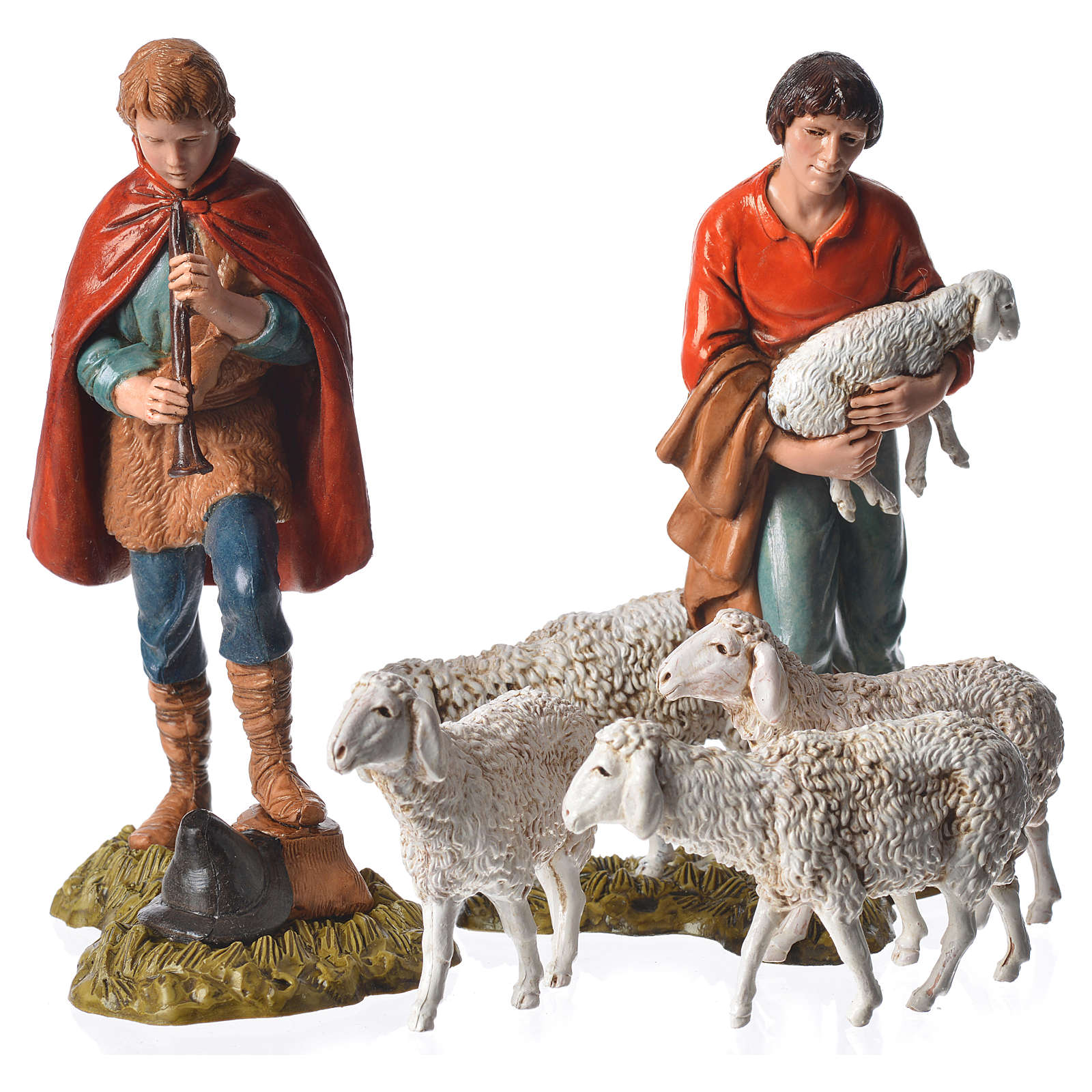 Pastori e pecore cm 11 presepe Moranduzzo 11 pz 4