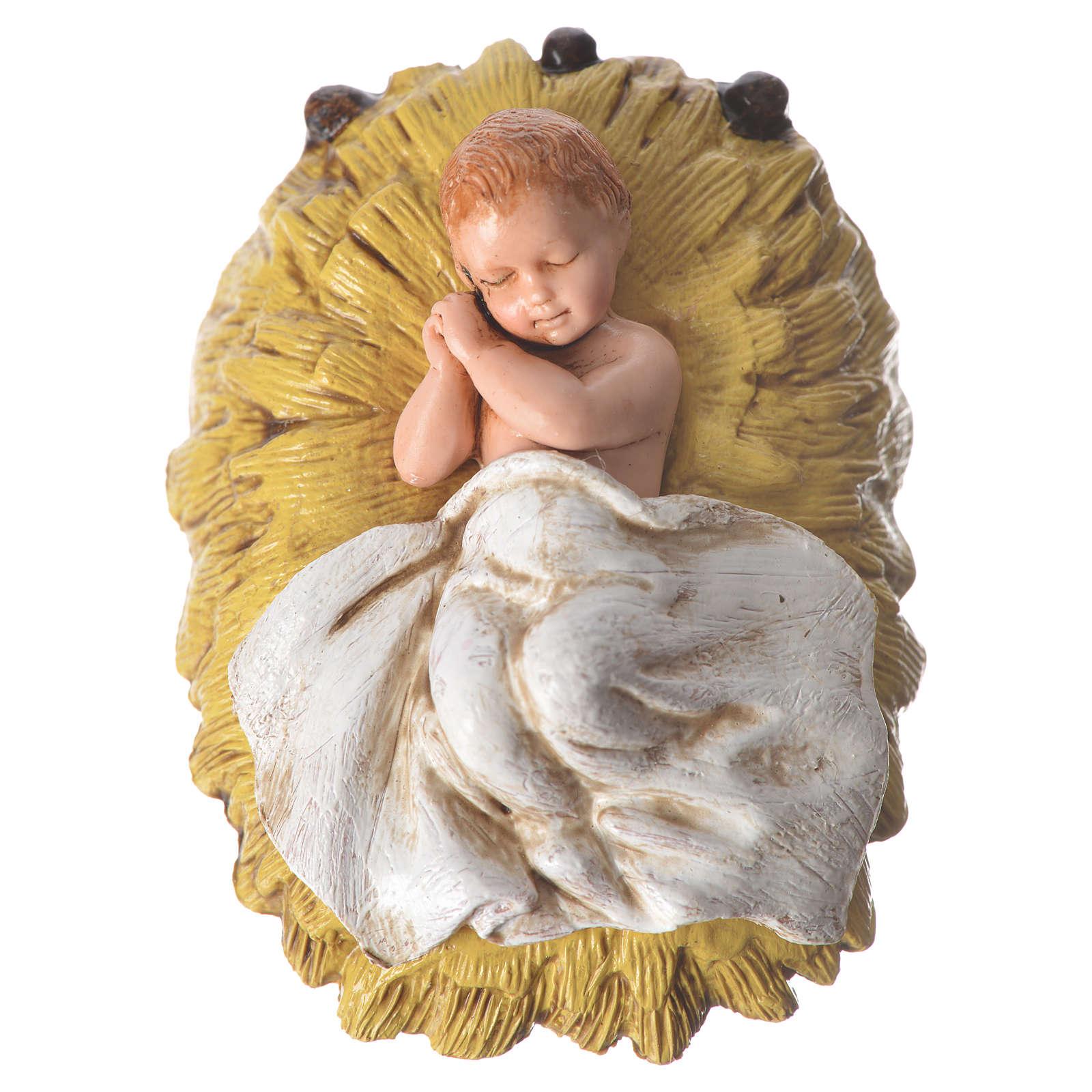 Scena Bambinello con angeli cm 11 Moranduzzo 4