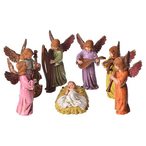 Scena Bambinello con angeli cm 11 Moranduzzo 1