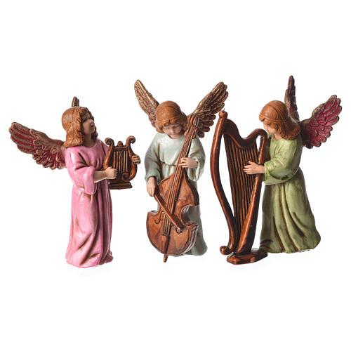 Scena Bambinello con angeli cm 11 Moranduzzo 3