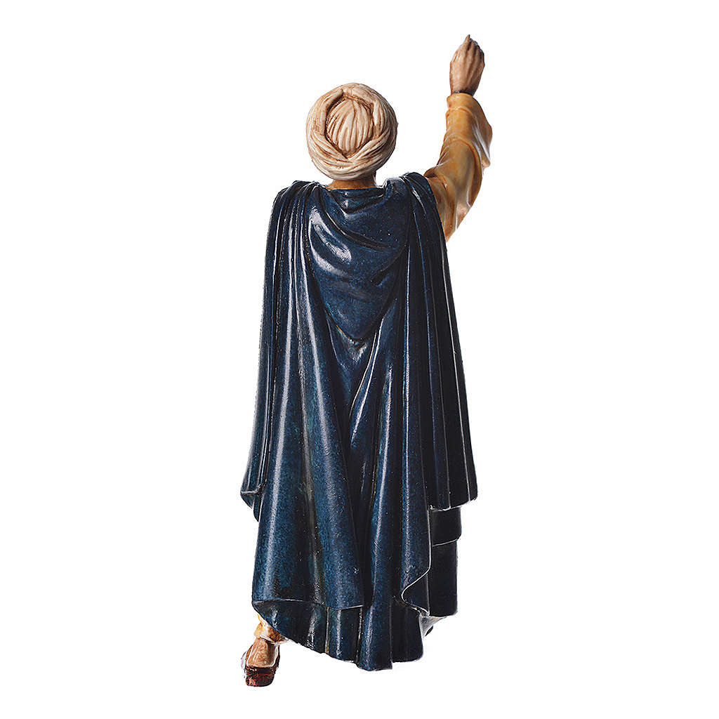 Oriental man walking, nativity figurine, 13cm Moranduzzo 4