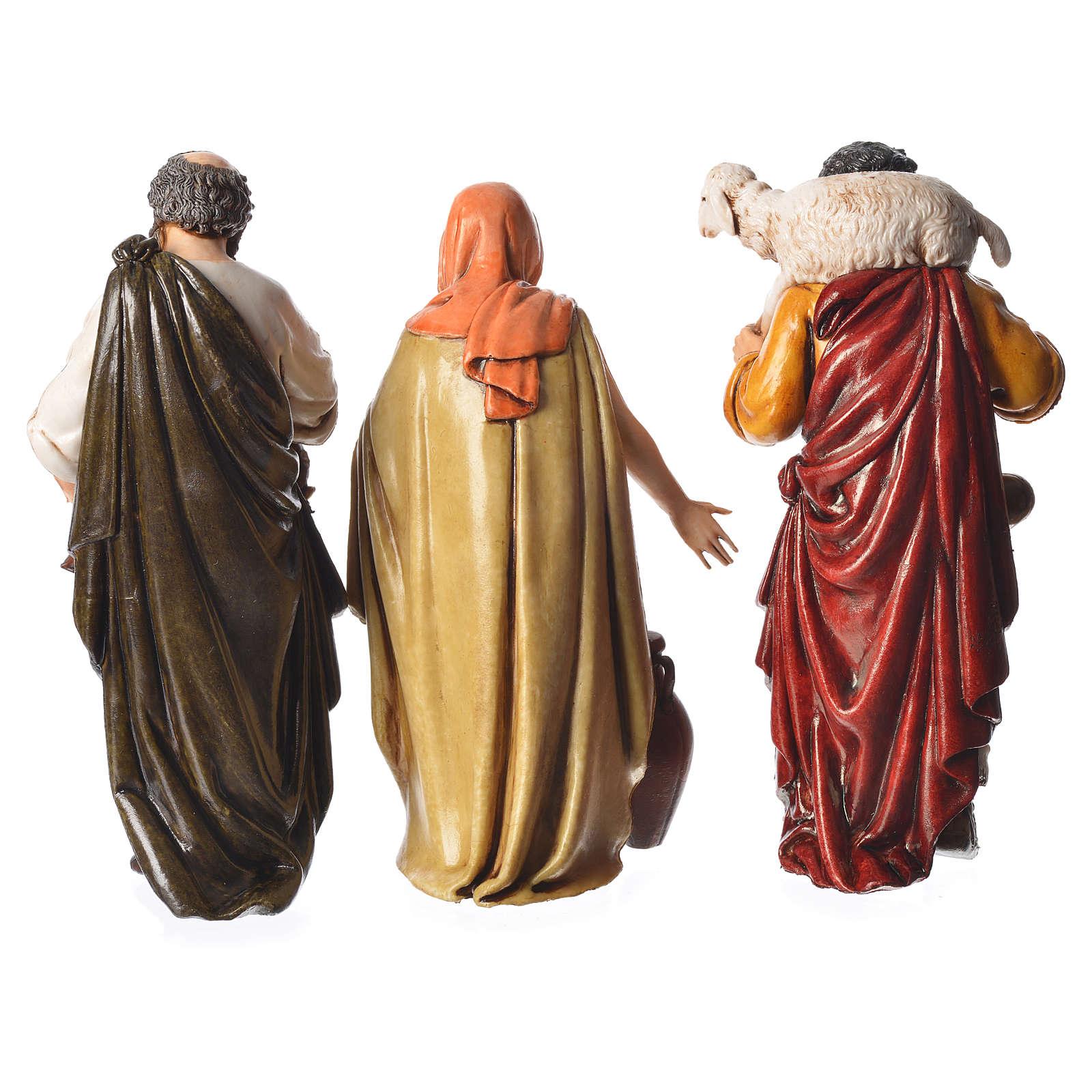 Shepherds, 6 nativity figurine, 13cm Moranduzzo 4