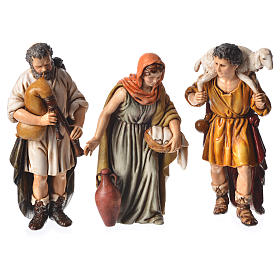 Shepherds, 6 nativity figurine, 13cm Moranduzzo s2