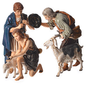 Shepherds, 6 nativity figurine, 13cm Moranduzzo s4