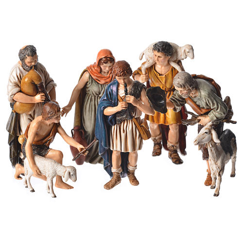 Shepherds, 6 nativity figurine, 13cm Moranduzzo 1