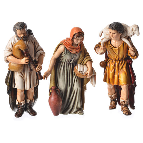 Shepherds, 6 nativity figurine, 13cm Moranduzzo 2
