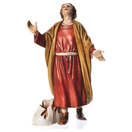 Astonished man, nativity figurine, 13cm Moranduzzo 1