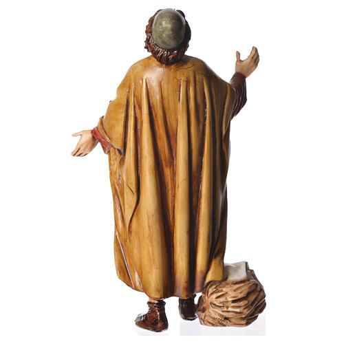 Astonished man, nativity figurine, 13cm Moranduzzo 2