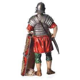 Roman soldier with shield, nativity figurine, 13cm Moranduzzo s2