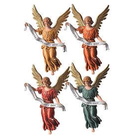Szopka Moranduzzo: Anioł Gloria 4 kolory 13 cm Moranduzzo