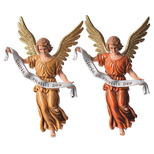 Nativity figurines, angels in glory by Moranduzzo 13cm 2
