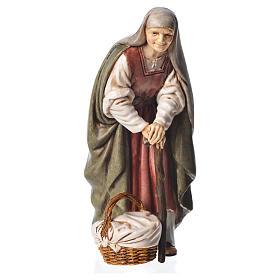 Krippe Moranduzzo: Alte Frau mit Stock 13cm Moranduzzo