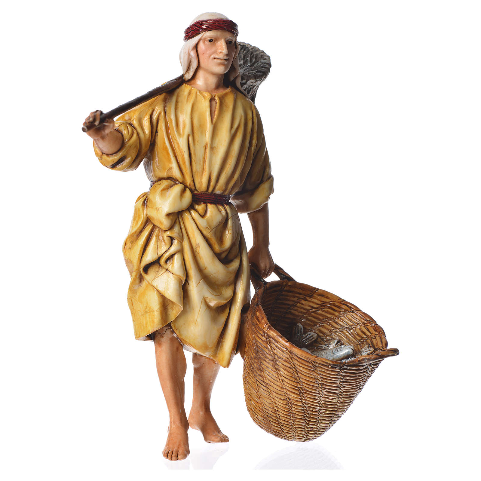 Fisherman, nativity figurine, 13cm Moranduzzo 4