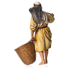 Fisherman, nativity figurine, 13cm Moranduzzo s2